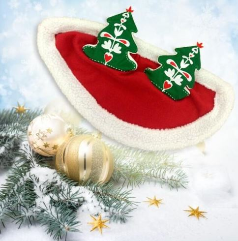 Christmas Horse Cap with Christmas Tree Ears