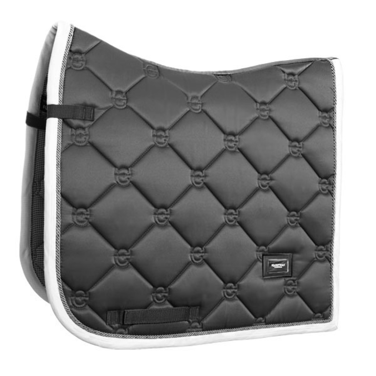 Equestrian Stockholm Dressage Saddle Pad Silver Cloud