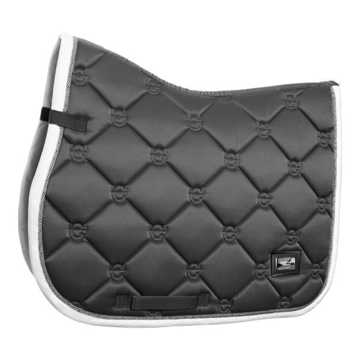 Equestrian Stockholm Jump Saddle Pad Silver Cloud