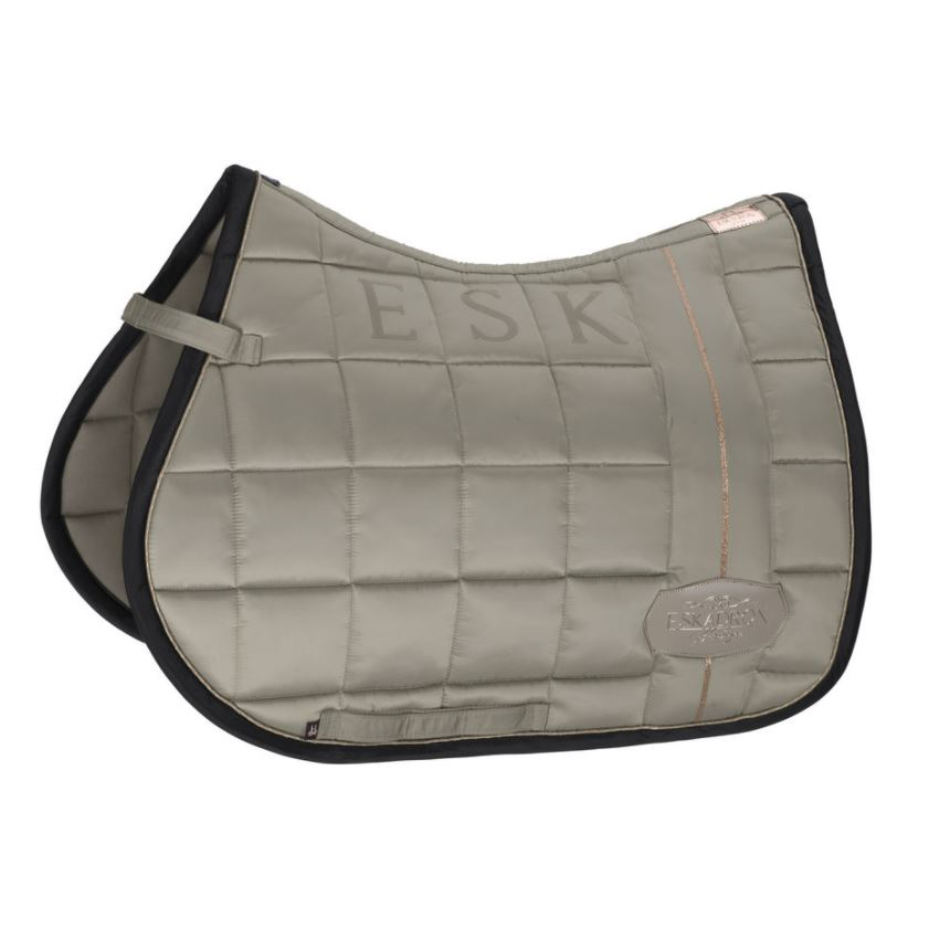 Eskadron Big Square Glossy General Purpose Saddle Cloth Ivory Grey