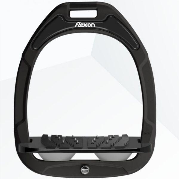 Flex On Composite Inclined Ultra Grip Stirrups Black/Black/Grey