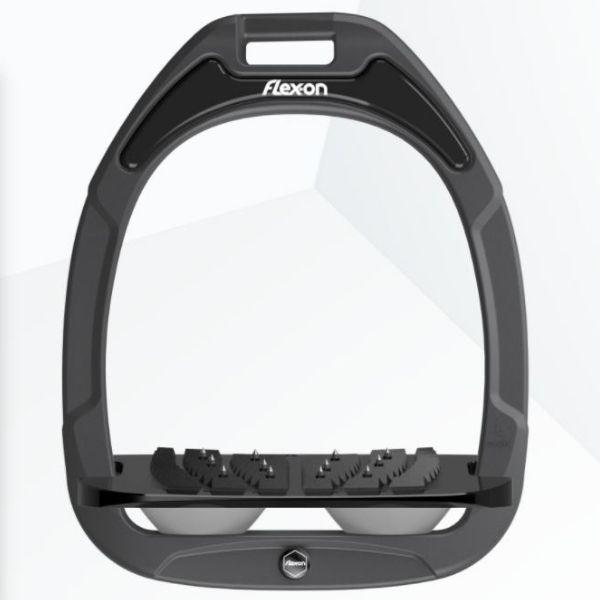 Flex On Composite Inclined Ultra Grip Stirrups Dark Grey/Black/Grey