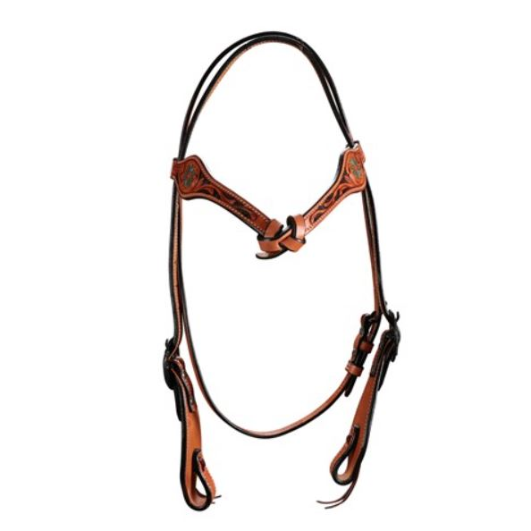 Fort Worth Iroquois Knotted Headstall