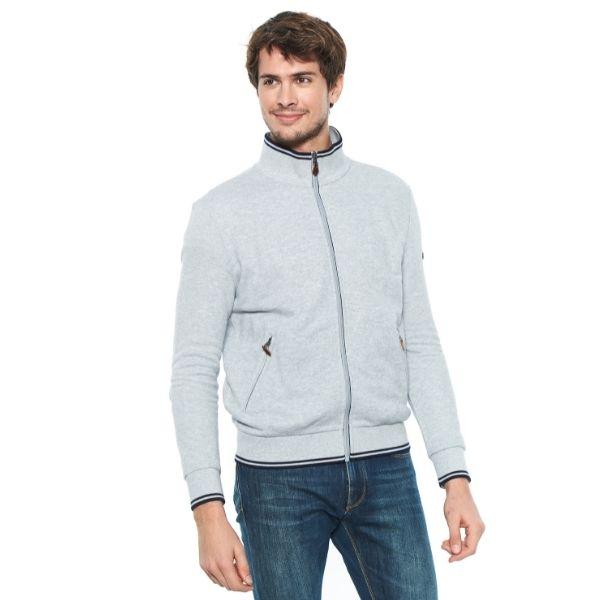 Harcour Visiteurs Mens Sweater Grey Marle