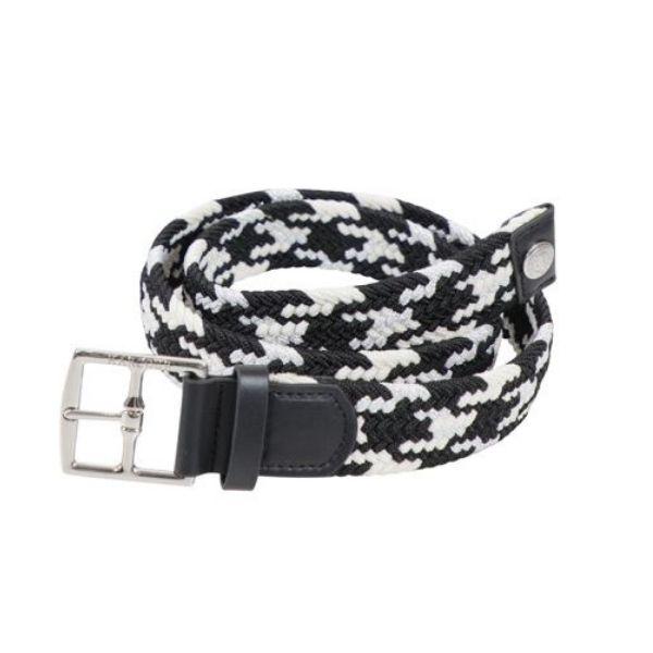 Harcour Plage Elastic Belt Black White