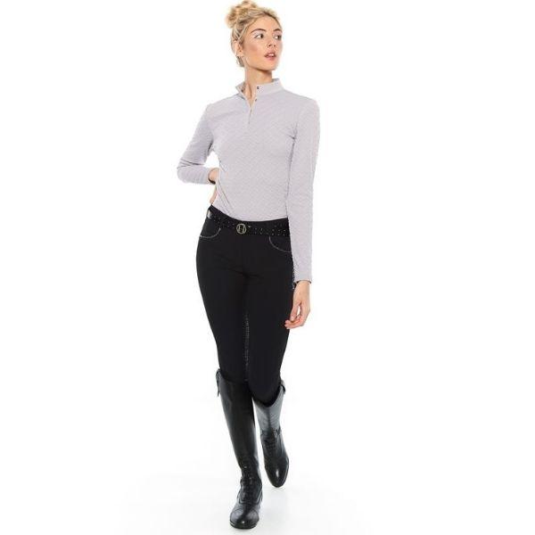 Harcour Charade Warm Polo Shirt Grey