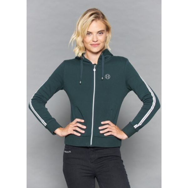 Harcour Story Zipped Hoodie Jungle Green
