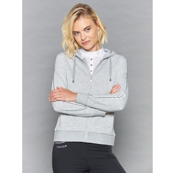 Harcour Story Zipped Hoodie Grey
