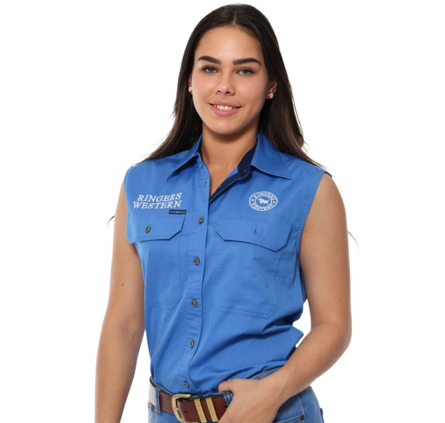 Signature Jillaroo Womens Sleeveless Work Shirt