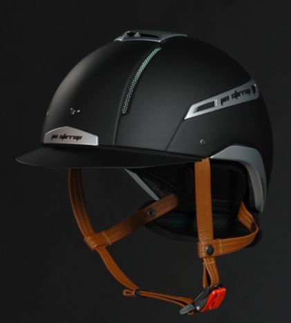 Jin Stirrup Coloured Icona Helmet Matt Black