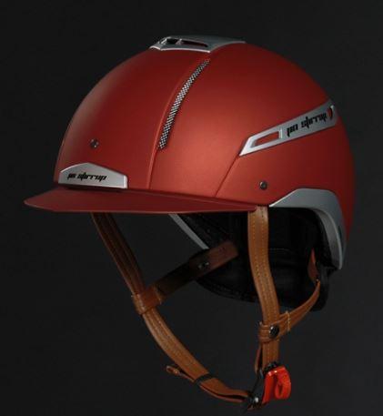 Jin Stirrup Coloured Icona Helmet Matt Red