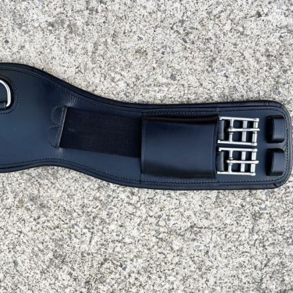 Lumiere Leather Padding Anatomic Dressage Girth- Build Your Own Black
