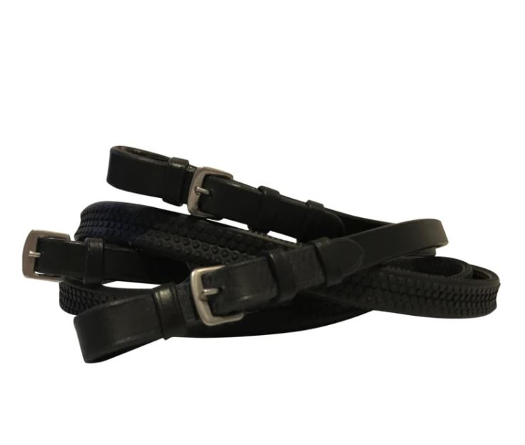 Lumiere Leather & Rubber Grip Reins