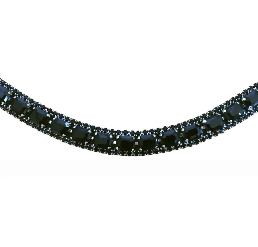 Lumiere Onyx Crystal Browband
