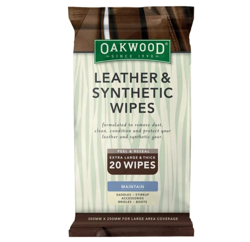 Oakwood Leather Wipes X 20