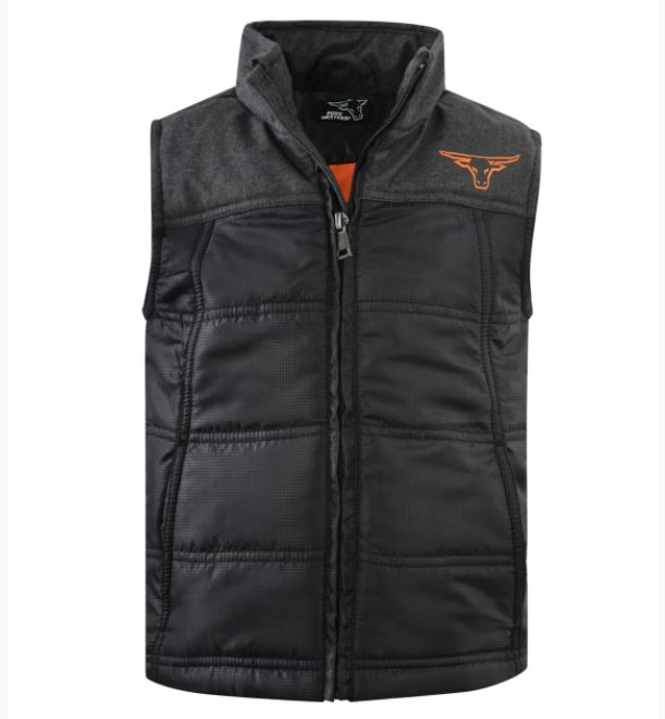 Pure Western Boys Usher Puffer Vest Charcoal/Black