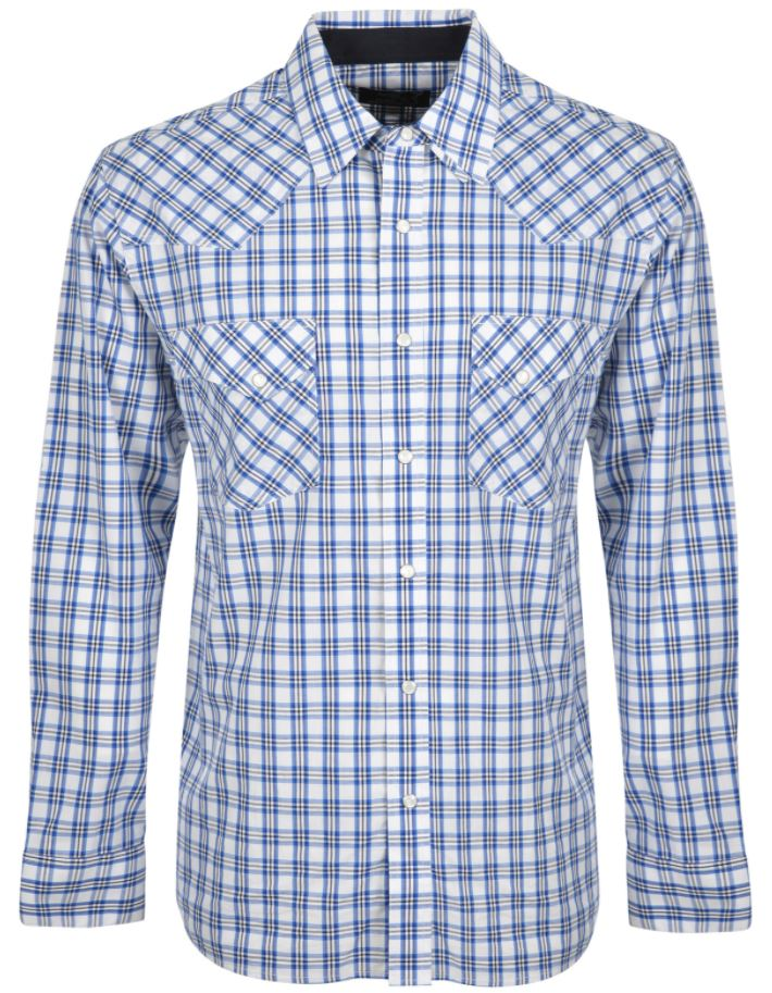 Pure Western Mens Henderson Check Long Sleeve Shirt