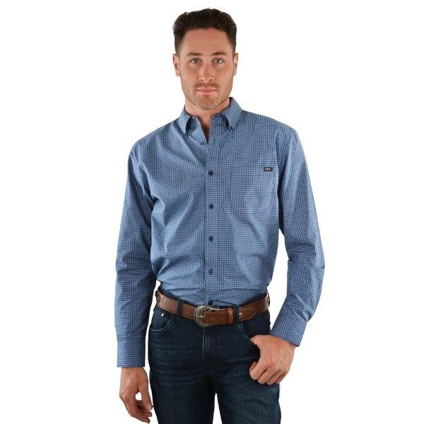 Pure Western Mens Trevor Print Button Down Long Sleeve Shirt