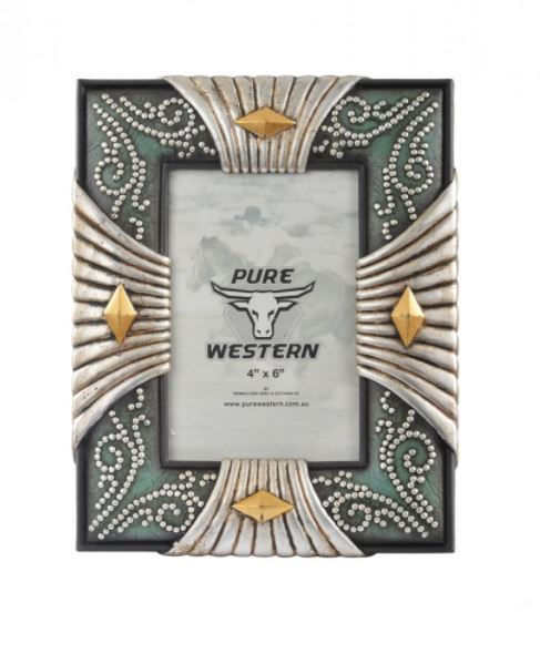 Pure Western Silver Look Picture Frame