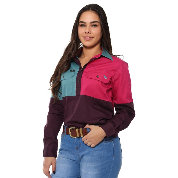 Ringers Womens Dakota Spliced Work Shirt