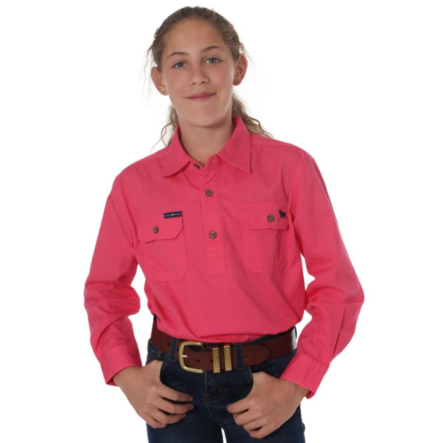 Ringers Kids Ord River Half Button Work Shirt