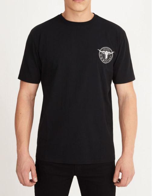 RMW Longhorn Medallion T-Shirt Black