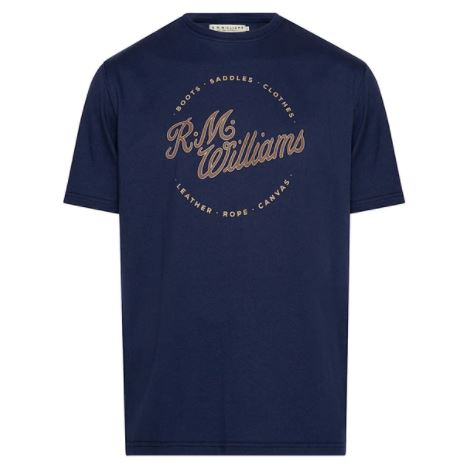 RMW Script Stamp T-Shirt Navy