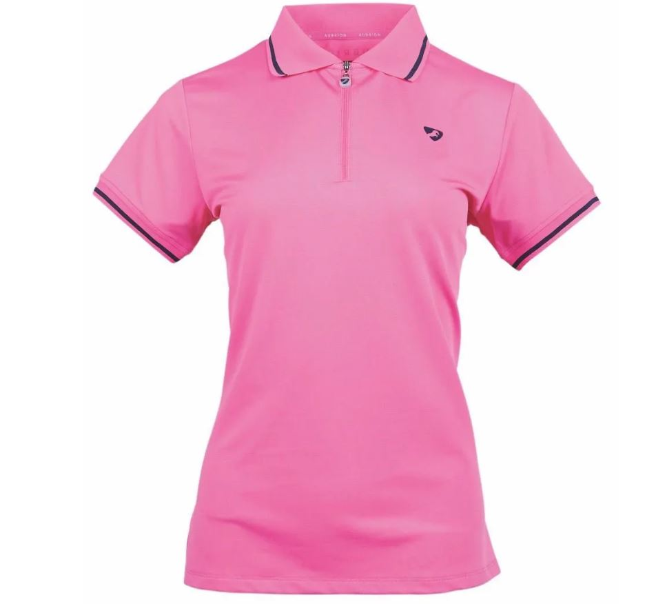Shires Aubrion Parsons Tech Polo Pink
