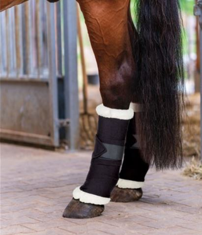 Showmaster Bandage Pads with Faux Sheepskin Trim
