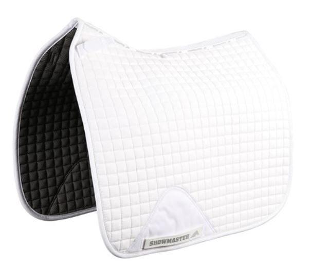 Showmaster Kwik-Dry Dressage Saddle Pad White
