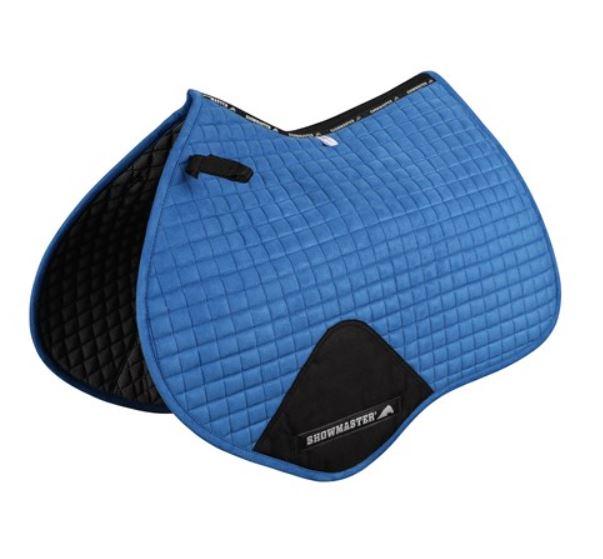 Showmaster Kwik-Dry Jump Saddle Pad Blue