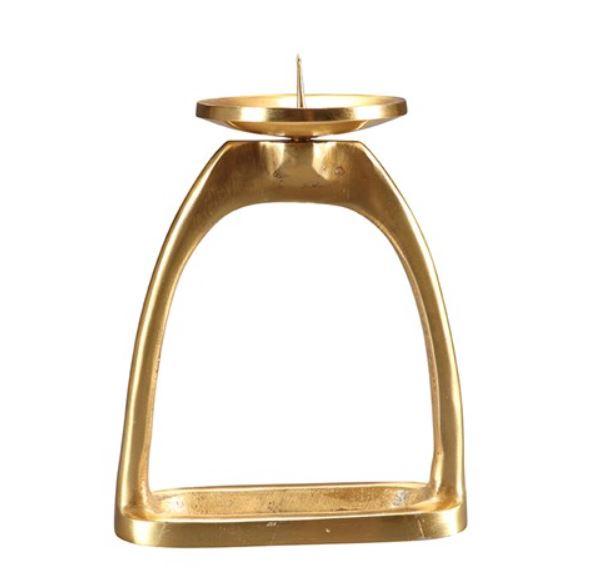 Stirrup Candle Holder Brass