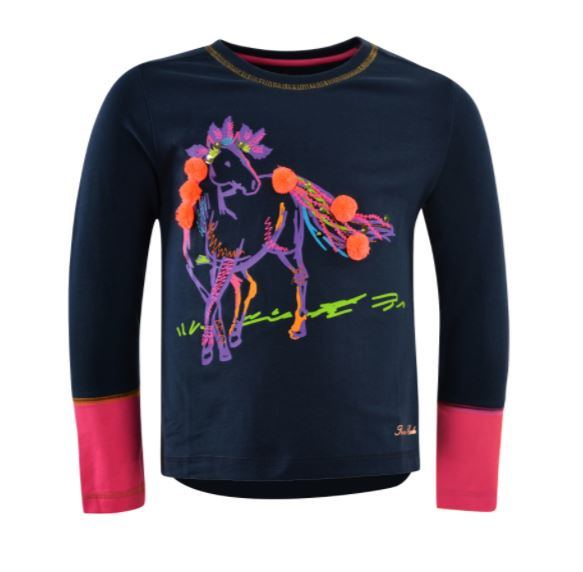 Thomas Cook Girls Spirit Horse Long Sleeve Top