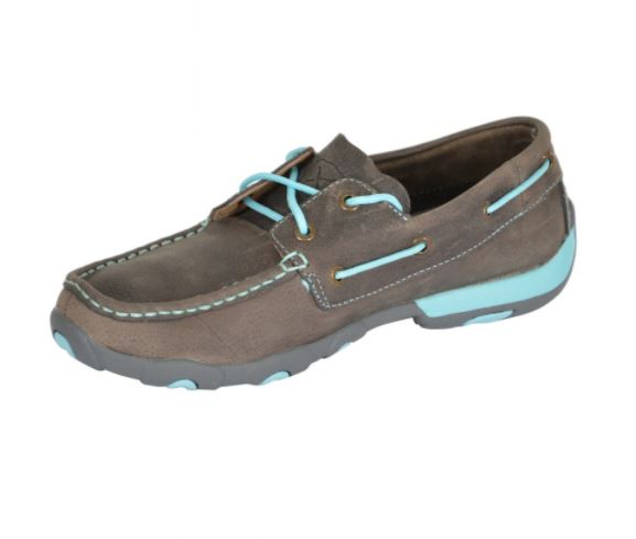 Twisted X Womens Classic Sky Contrast Mocs Low Lace up