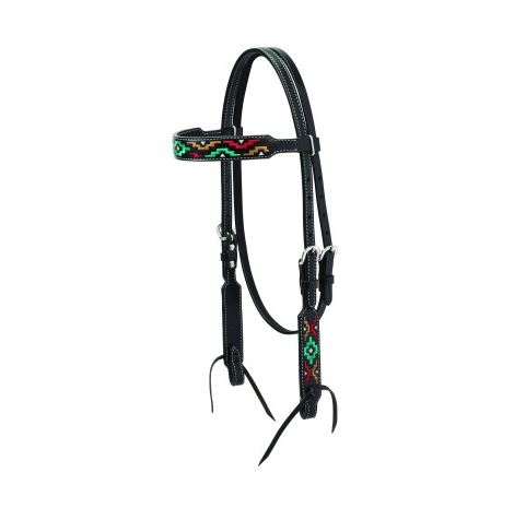 Weaver Turquoise Cross Browband Headstall Bridle