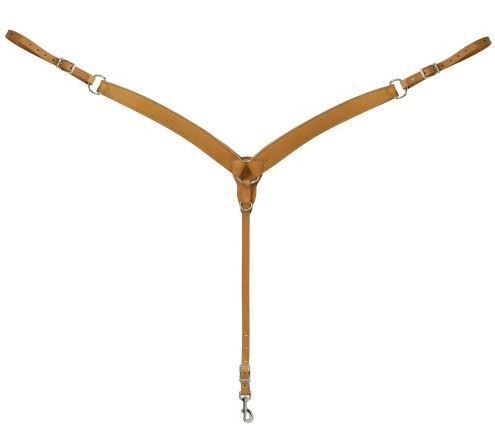 Weaver Turquoise Cross Contoured Skirting Leather Breastplate