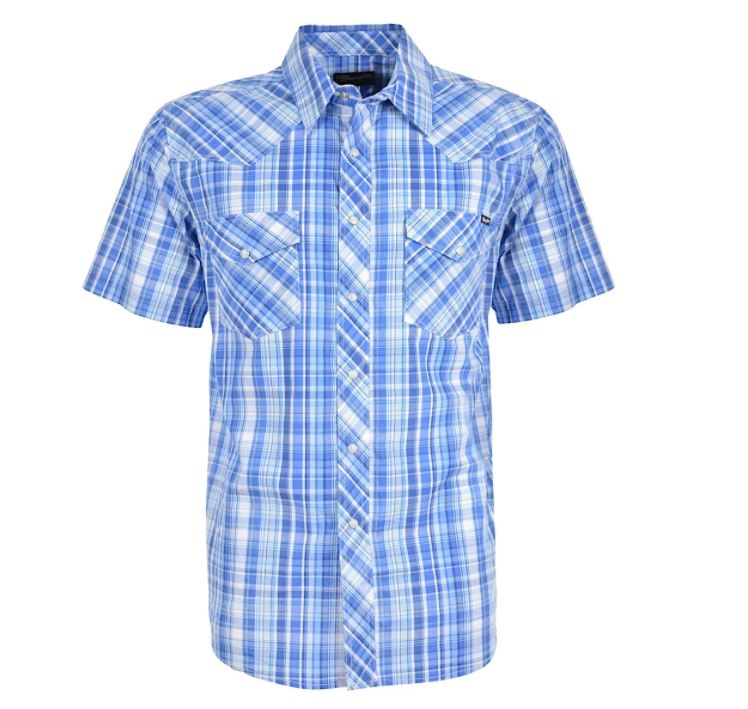 Wrangler Mens Granville Check Short Sleeve Shirt