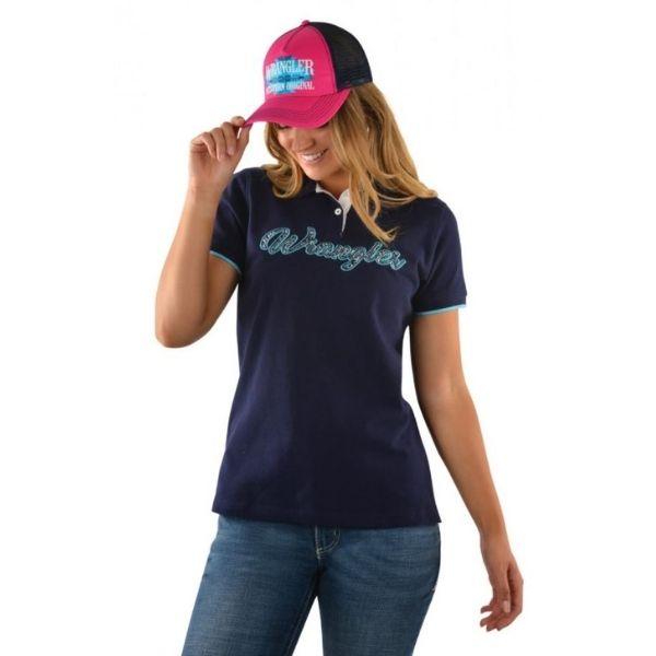 Wrangler Womens Shelly Polo Blue