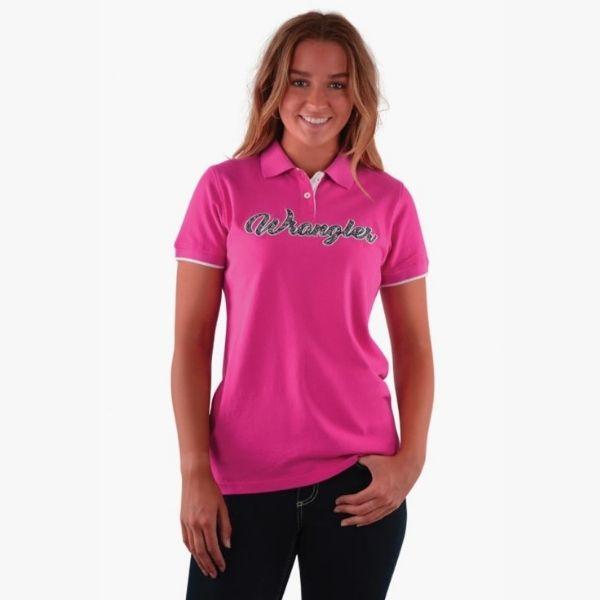 Wrangler Women's Shelly Polo Pink